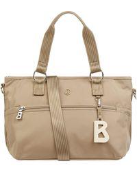 Bogner Handtasche mit Logo-Anhänger Modell 'Gesa' - Natur