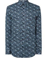 SELECTED - Slim Fit Freizeithemd aus Bio-Baumwolle - Lyst