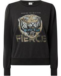 ONLY Sweatshirt aus Bio-Baumwollmischung Modell 'Lucinda' - Schwarz