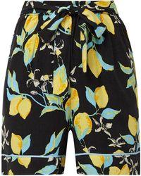 Moss Copenhagen Shorts mit floralem Muster - Schwarz