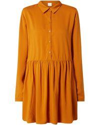 Vila Kleid aus Viskose Modell 'Dania' - Orange