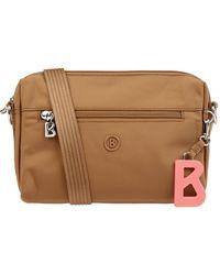 Bogner Crossbody Bag mit Logo-Anhänger - Braun