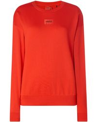 HUGO Sweatshirt aus Baumwolle Modell 'Nakira' - Rot