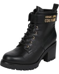 Versace Jeans Couture Boots mit Schnürverschluss - Schwarz