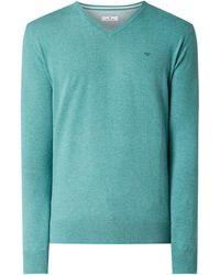 Tom Tailor Pullover mit V-Ausschnitt - Grün