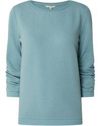 Tom Tailor Denim Sweatshirt mit Wabenmuster - Grün