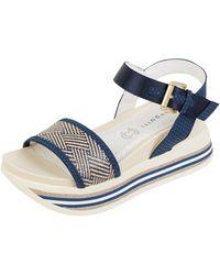 Bugatti Sandalen mit Plateausohle - Blau