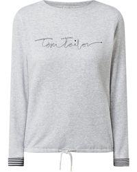 Tom Tailor Sweatshirt mit Logo-Applikation - Mettallic