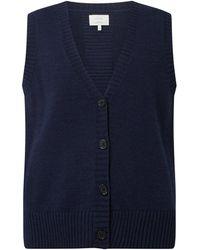 Numph Mouwloos Vest Met Wol, Model 'nudarlena' - Blauw