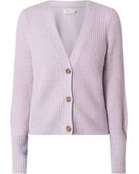 ONLY Cardigan mit Knopfleiste Modell 'Nicoya Clare' - Lila