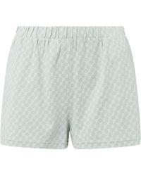 JOOP! BODYWEAR Shorts aus Baumwolle mit Logo-Muster - Grün
