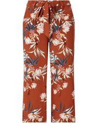 ONLY Culotte mit floralem Muster Modell 'Nova Life' - Orange