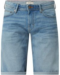Esprit Straight Fit Jeansshorts mit Stretch-Anteil - Blau