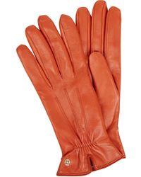 Roeckl Sports Handschuhe aus Leder - Orange