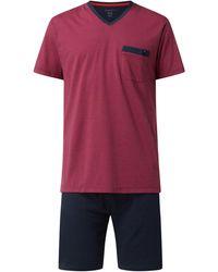 Bugatti Pyjama aus Baumwollmischung - Pink