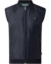 Fynch-Hatton Weste mit Reißverschlusstaschen - Blau