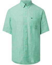 Fynch-Hatton Regular Fit Leinenhemd - Grün