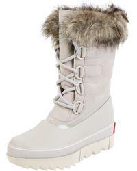 Sorel Stiefel aus Leder mit Kunstfell Modell 'Joan Next' - wasserdicht - Weiß
