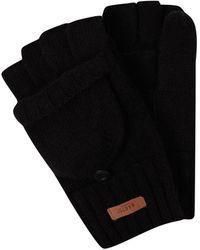 Barts Handschuhe aus Wolle Modell 'Haakon' - Schwarz