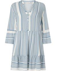 Only Carmakoma PLUS SIZE Kleid aus Viskose Modell 'Marrakesh' - Blau