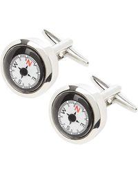 Lindenmann Manschettenknöpfe mit Kompass - Mettallic