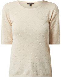 Esprit Collection Pullover mit kurzen Ärmeln - Weiß