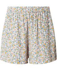 Jake*s Casual Shorts aus Viskose mit floralem Muster - Blau