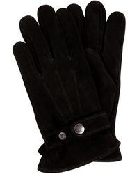 eem-fashion Handschuhe aus Nubukleder - Schwarz