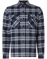 Schott Nyc Hemdjacke aus Flanell Modell 'Griffin' - Blau