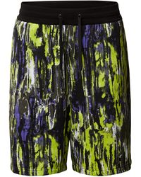 Armani Exchange Sweatshorts mit Allover-Muster - Gelb