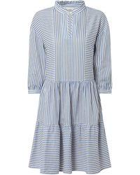 Marc O'Polo DENIM Kleid mit Streifenmuster - Blau