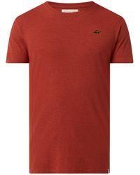 RVLT Regular Fit T-Shirt mit Bio-Baumwolle - Rot