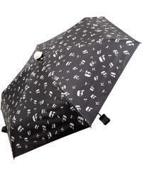 Karl Lagerfeld Paraplu Met Logomotief - Zwart