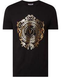 Versace Jeans Couture T-Shirt mit Logo-Print - Schwarz