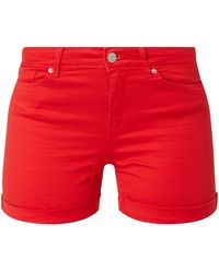 Vero Moda Shorts mit Stretch-Anteil - Rot
