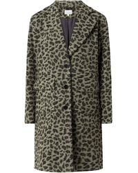 Jake*s Casual Mantel mit Leopardenmuster - Grün