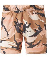 adidas Originals Badehose mit Camouflage-Muster - Braun