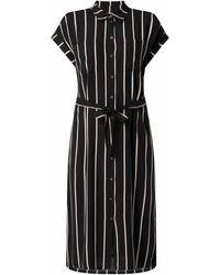 Tom Tailor Denim Blusenkleid mit Taillengürtel - Schwarz