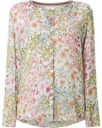 Cinque Bluse mit floralem Muster Modell 'Citemple' - Weiß