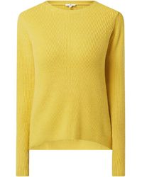 Tom Tailor Pullover mit Rippenstruktur - Gelb