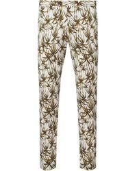 Bertoni Slim Fit Anzughose mit Allover-Muster Modell 'Bloch' - Weiß