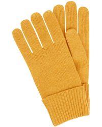 Christian Berg Women Handschuhe aus Kaschmir - Gelb