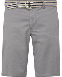 Christian Berg Men Chino-Shorts mit Stretch-Anteil - Grau