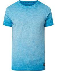 Q/S designed by T-Shirt aus Slub Jersey - Blau