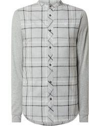 SIKSILK Regular Fit Freizeithemd aus Baumwolle - Grau