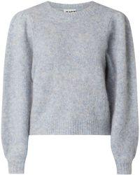 Just Female Pullover mit langen Puffärmeln Modell 'Girona' - Blau
