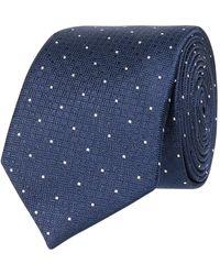 Jake*s Krawatte aus Seide (6,5 cm) - Blau