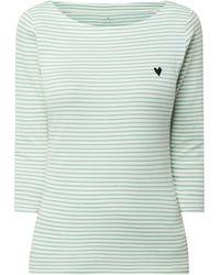Tom Tailor Shirt mit Streifenmuster - Grün