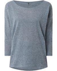 ONLY Sweatshirt mit Wabenstruktur Modell 'Alba' - Blau