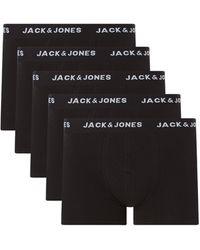 Jack & Jones Trunks mit Stretch-Anteil im 5er-Pack Modell 'Jachuey' - Schwarz